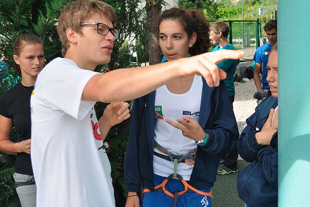 Kletter-Wettkampf: Rock Master Arco am Gardasee (Bilder International Open Lead) 19