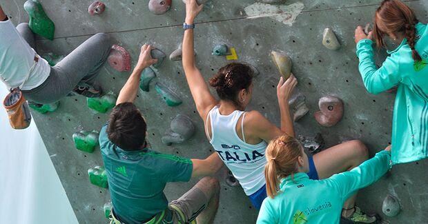 Kletter-Wettkampf: Rock Master Arco am Gardasee (Bilder International Open Lead) 9
