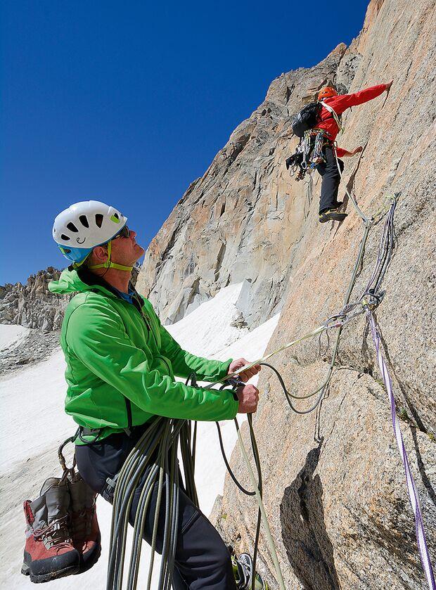 Klettern Aiguilles Dorées Mont Blanc
