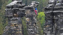 Klettern am Fels - Elbsandstein