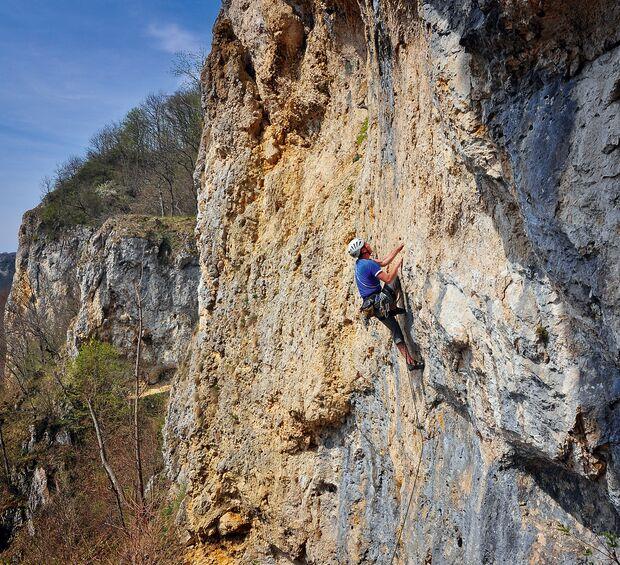 Klettern auf der Schwäbischen Alb