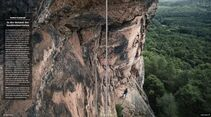 Klettern im Dahner Felsenland, Pfalz