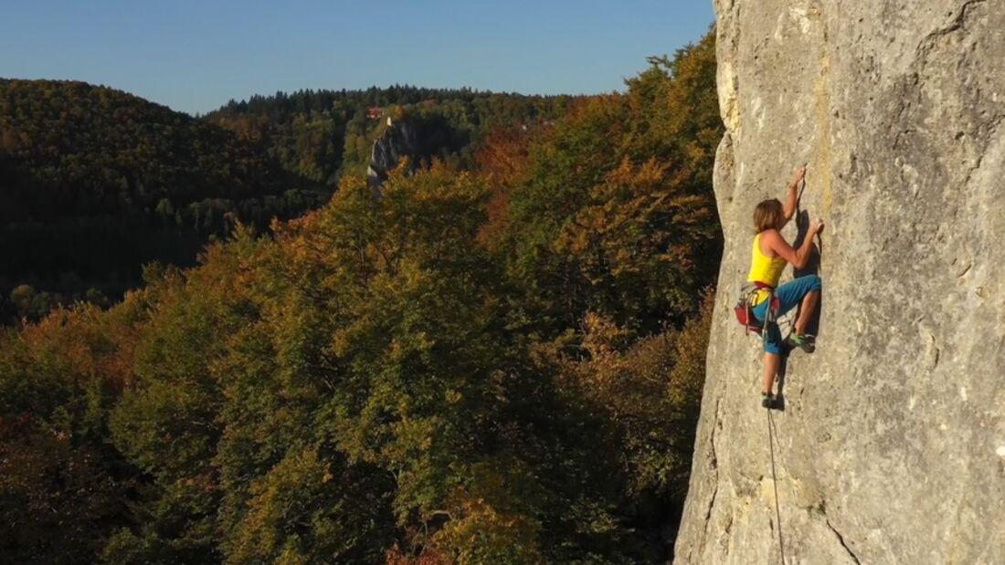 Klettern im Donautal und auf der schwäbischen Alb