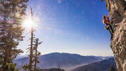 Klettern im Winter in Deuschland: Fels-Tipps