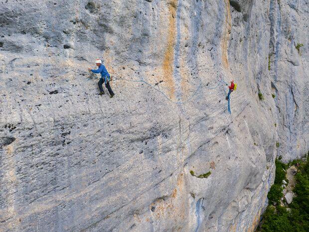 Klettern in Céüse