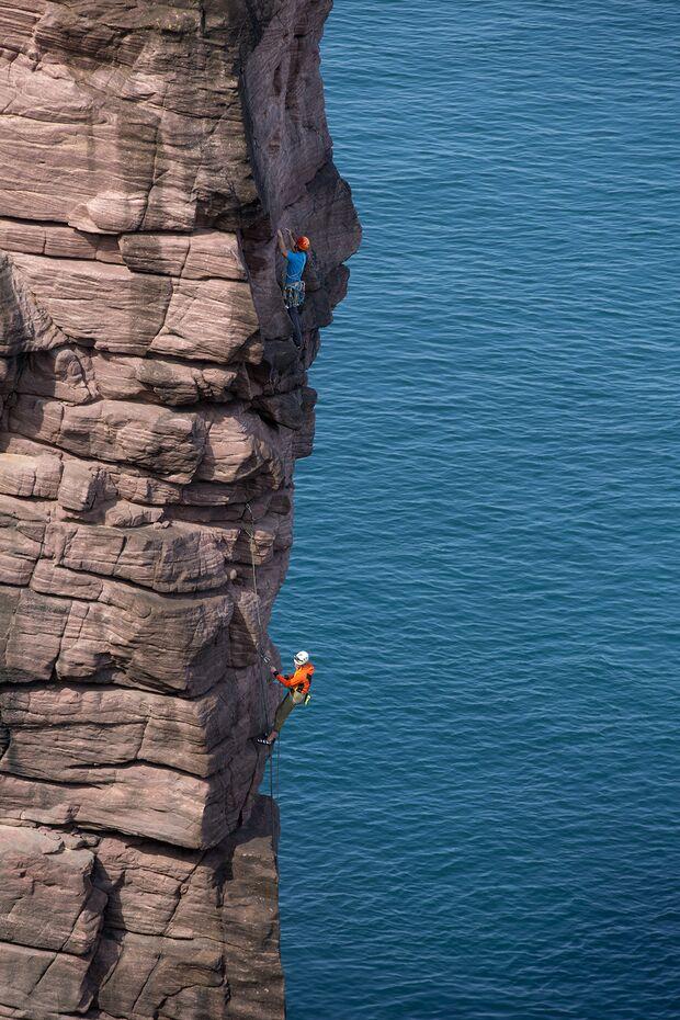 Klettern in Schottland Old Man of Stoer