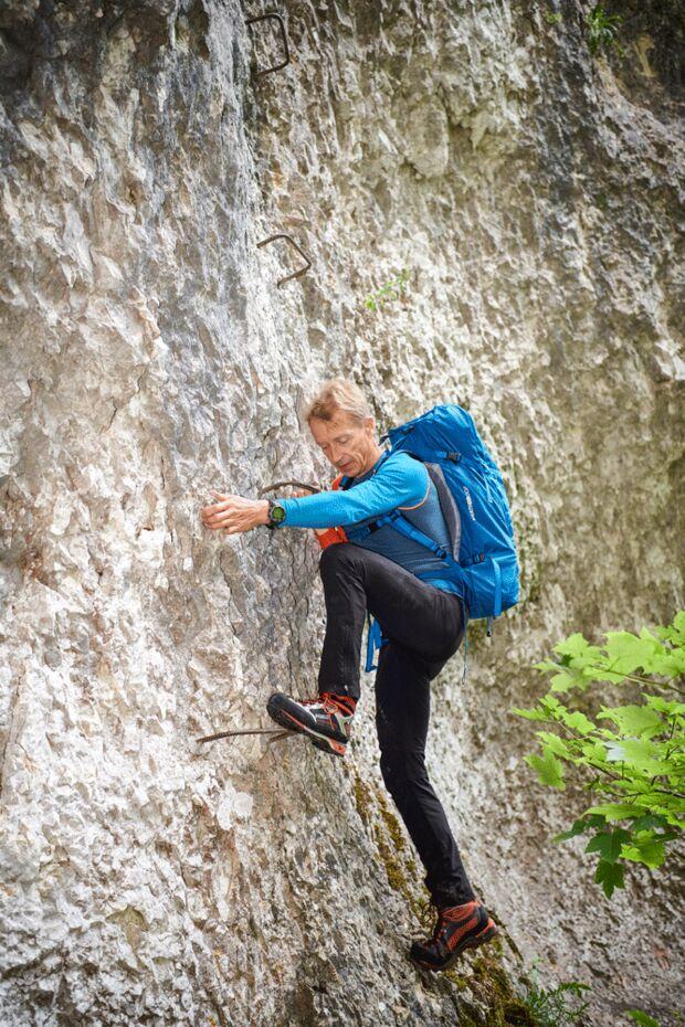 Klettersteig Technik