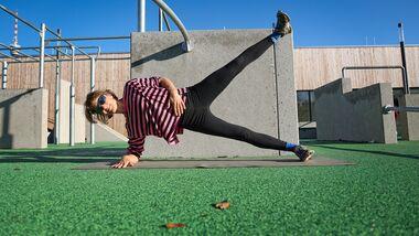 Klettertraining: Seitstütz für mehr Körperspannung