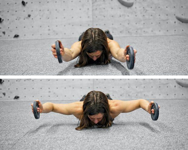 Klettertraining mit Gewichten - Hanteltraining fürs Klettern