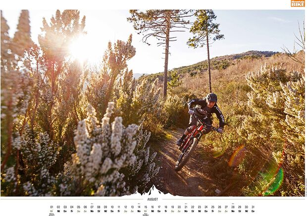 MB 2016 Kalender Best of Mountainbike 2017 August
