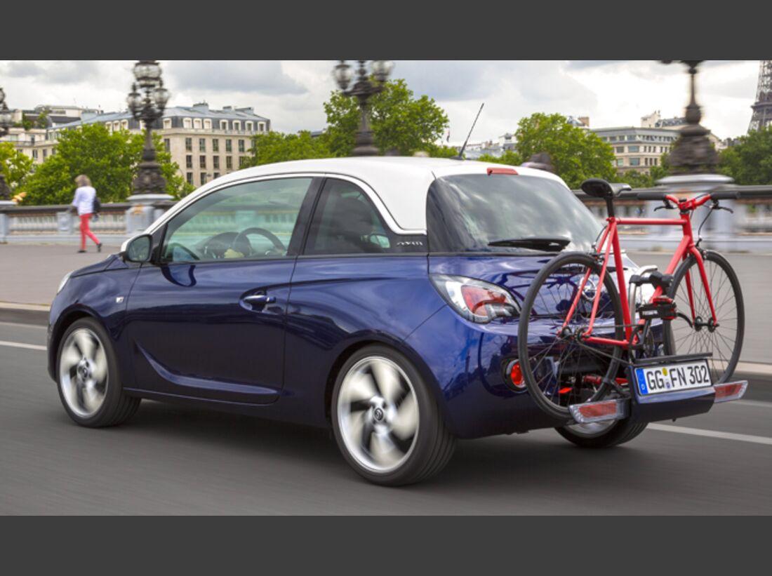 MB Fahrradträger Martübersicht Deichselträger 2016 FlexFix Opel Adam