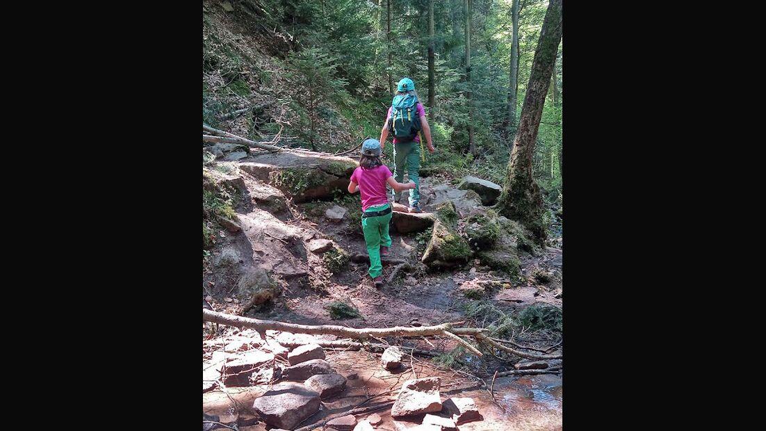 Mit Kindern auf Tour in der Xanderklinge / Schwarzwald