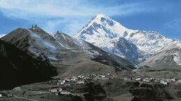 Mount Kazbek in Georgien