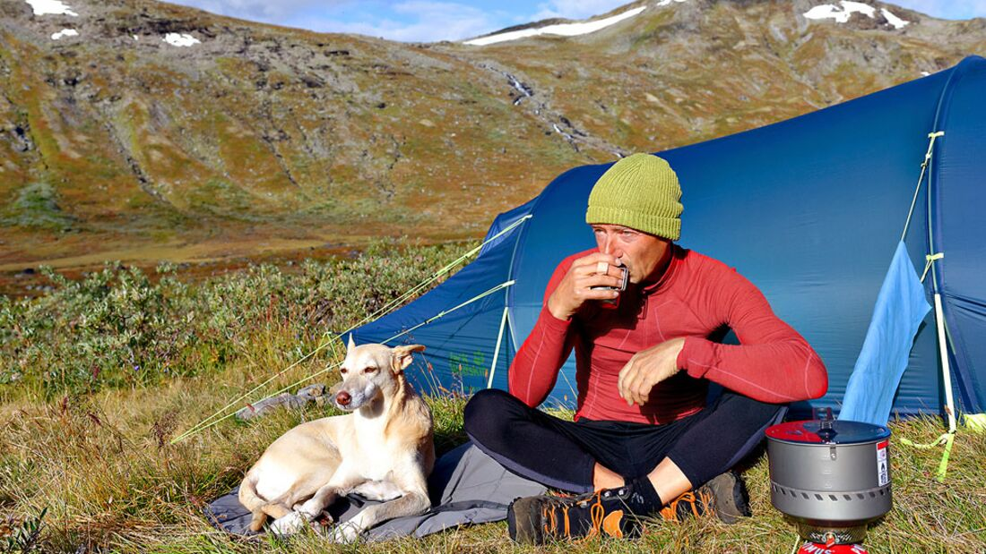 Norwegen Jotunheimen - Morgensonne im ruhigen Storådalen
