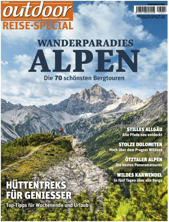 OD 01/2019 Sonderheft Reise Alpen Tourenspecial Titel Cover
