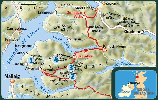 OD 0116 Knoydart Schottland Karte