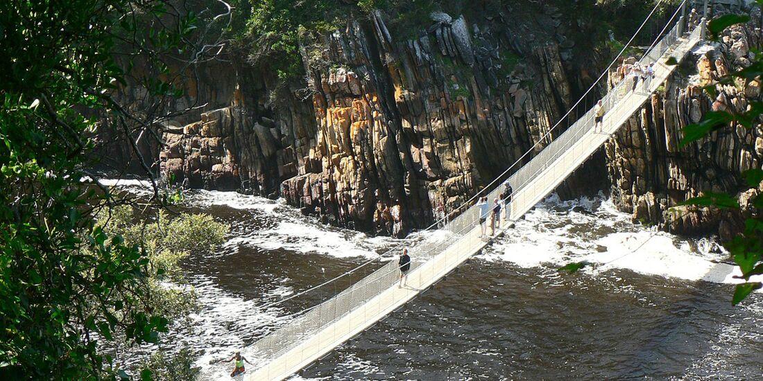 OD 0202 Süfafrika Garden Route Hängebrücke