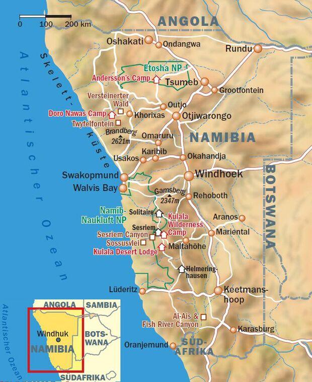 OD 0212 Namibia Afrika Karte Map