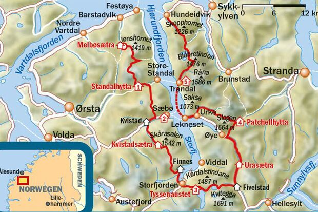 OD 0216 Norwegen Fjord Skandinavien map