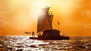 OD 0313 Kon-Tiki Kontiki Kinofilm Thor Heyerdahl Floß Pazifik