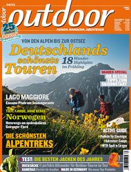 OD 0413 outdoor Heft Titel Magazin Cover April