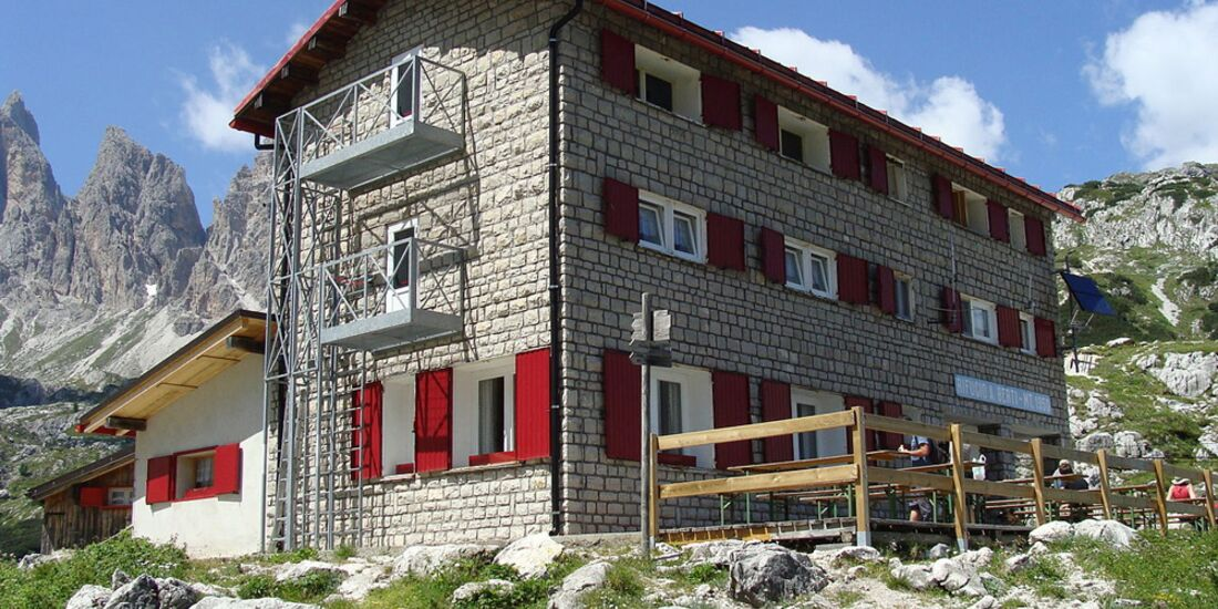 OD 0414 Südtirol Sextener Dolomiten Hütte Rifugio Berti