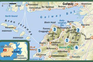 wanderwege irland karte Irland: Wandern in der Karstlandschaft Burren   Reiseinfos