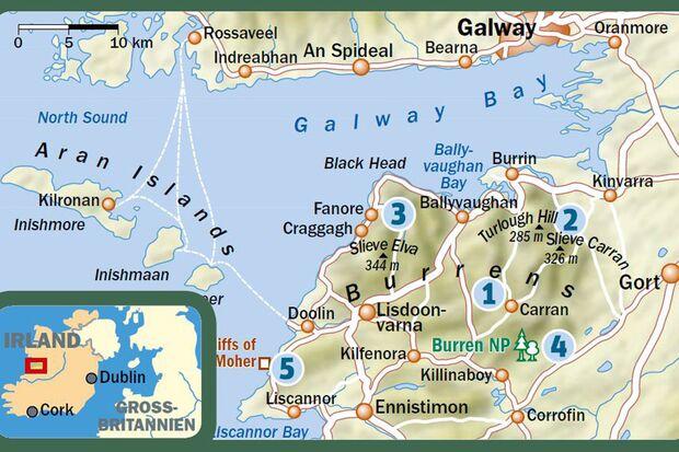 OD 0416 Irland Burren Map