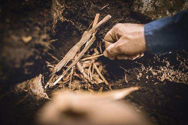 OD 0419 Grubenfeuer Infos Bushcraft Camping Kochen Feuer