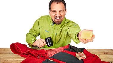 OD 0516 Basislager Instructor Wachs imprägnieren Kleidung Pflege Fjällräven Aufmacher Frank Wacker