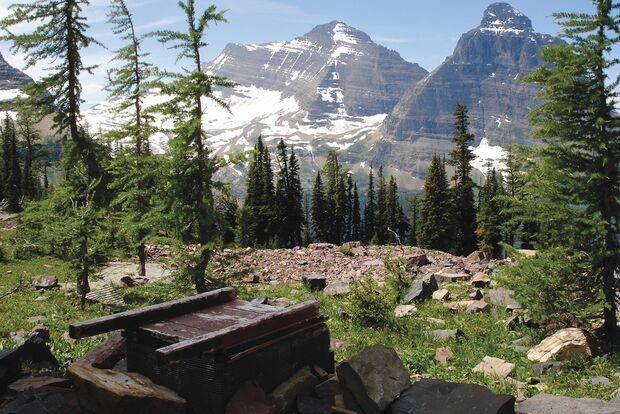OD 0516 Klo im Nirgendwo Glacier Nationalpark Montana