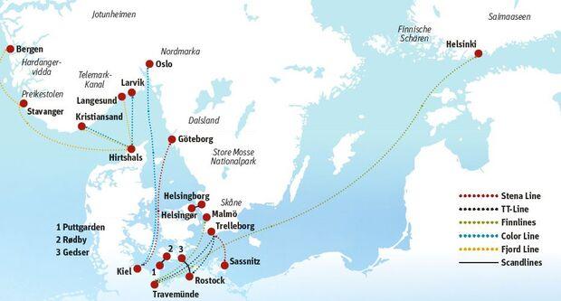 OD 0516 Skandinavien Fähre Map