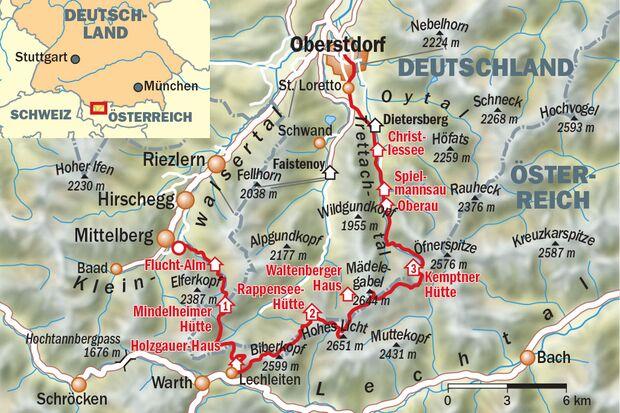 OD 0518 Heilbrionner Höhenweg Karte Map