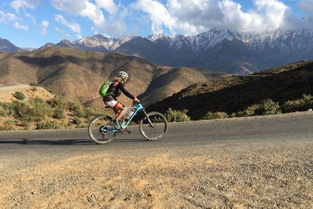 OD 0519 Atlasgebirge Marokko Überquerung Mountainbike Elisabeth