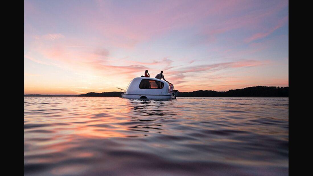 OD 0519 Wohnwagen auf Wasser Schweden Sealander