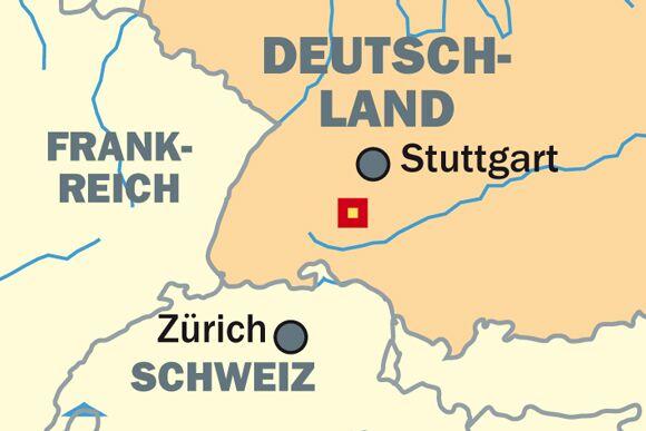 OD 0612 Rund um Albstadt - Übersichtskarte - Lage
