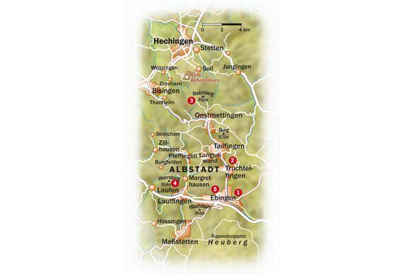 OD 0612 Rund um Albstadt - Übersichtskarte