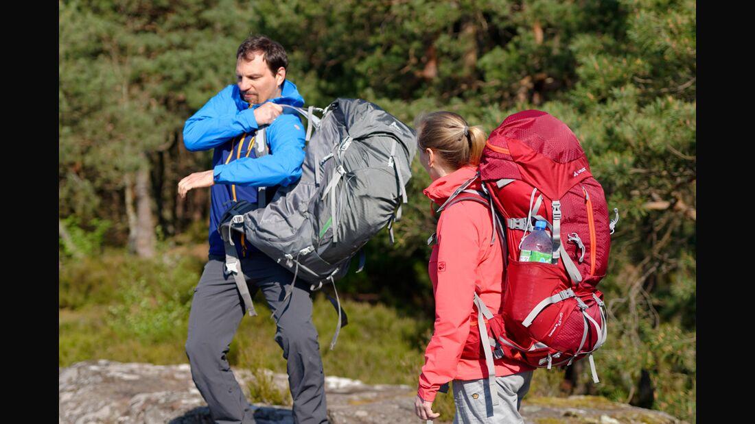 OD 0614 Trekkingrucksacktest Praxistest Pfälzerwald Frank Wacker Säcke Testverfahren