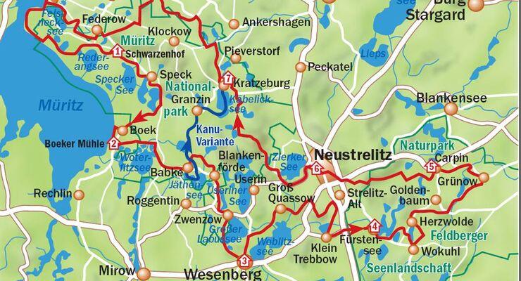 Mecklenburgische Seenplatte Karte Pdf.Mecklenburgische Seenplatte Wandern Radfahren Paddeltipps