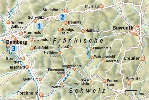 OD 0717 Bierwandern Fränkische Schweiz Map Karte