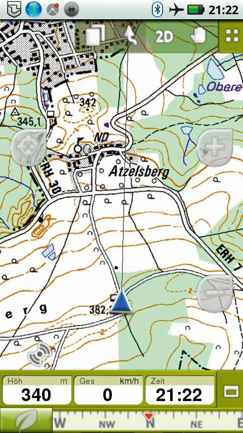 OD 0812 GPS-Navigation Handy Smartphone App CompeGPS Twonav
