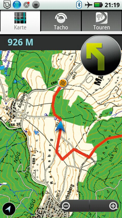 OD 0812 GPS-Navigation Handy Smartphone App MagicMaps Scout