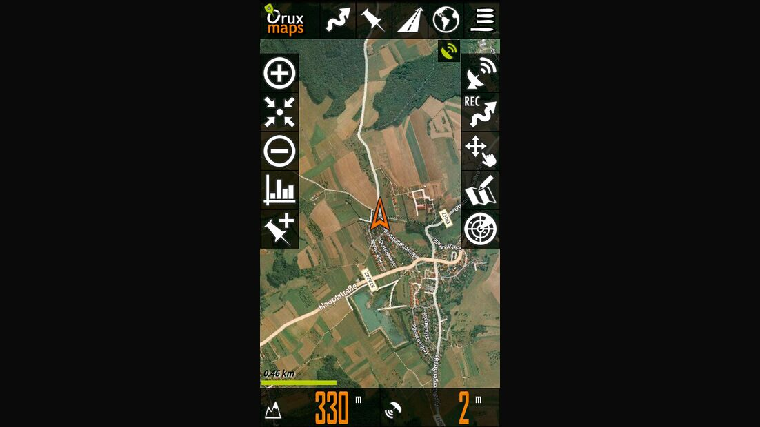 OD 0812 GPS-Navigation Handy Smartphone App Oruxmaps