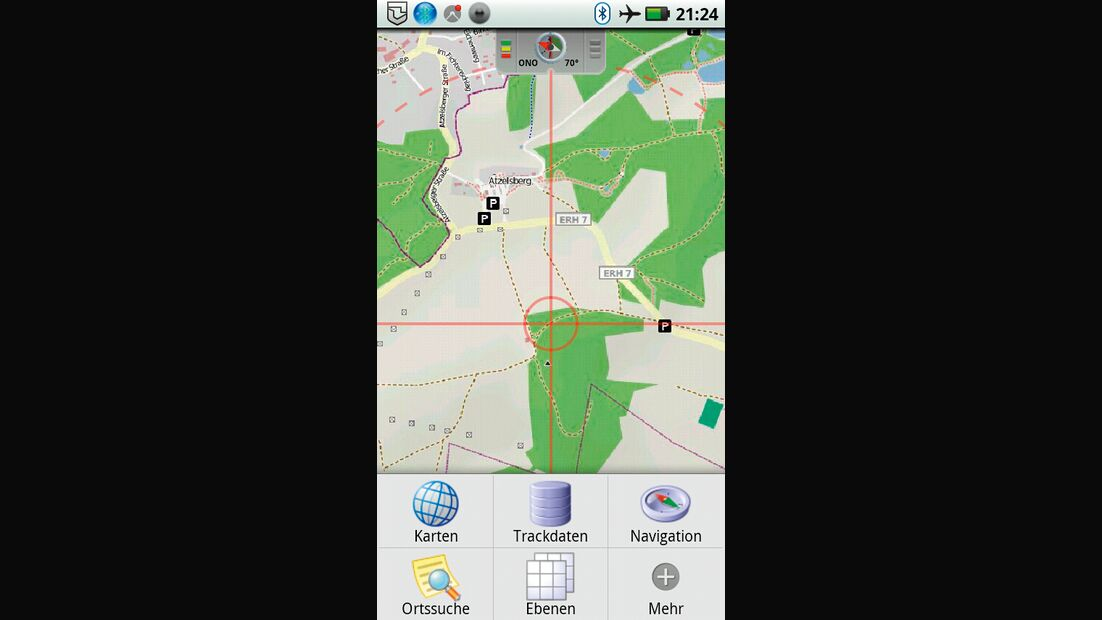 OD 0812 GPS-Navigation Handy Smartphone App Outdoor Atlas