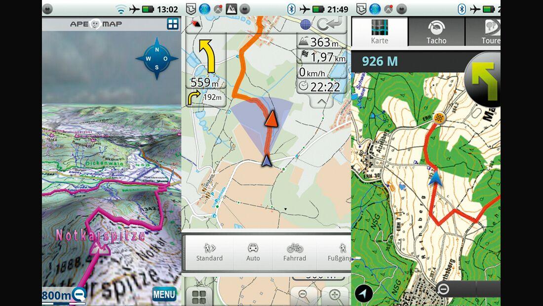 OD 0812 GPS-Navigation Handy Smartphone App Teaserbild