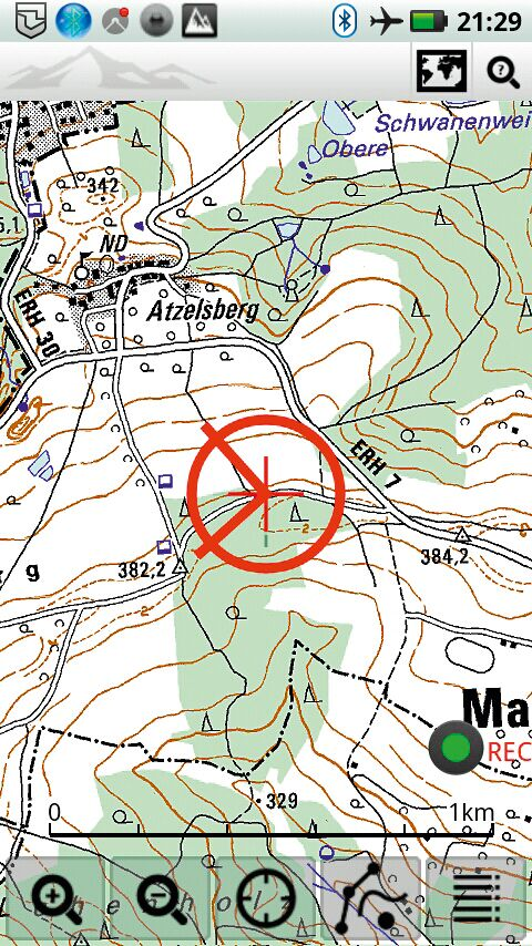 OD 0812 GPS-Navigation Handy Smartphone App Viewranger