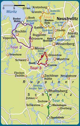 Seenplatte karte mecklenburger paddeln Mecklenburgische Seenplatte