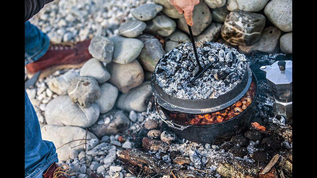 OD 0916 camp cooking outdoor küche draußen kochen glut