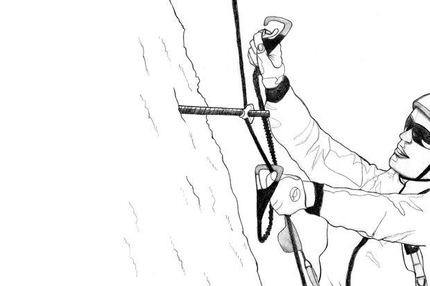 OD_0918_Klettersteig-Special_Top-Liste_Umhaengen_Illustration_Patrick_Rosche_04