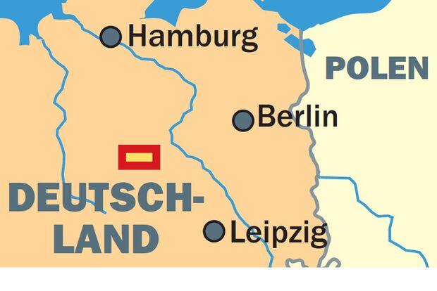 OD 1011 Harzer Hexen Stieg Brocken Ausschnitt Deutschland Karte